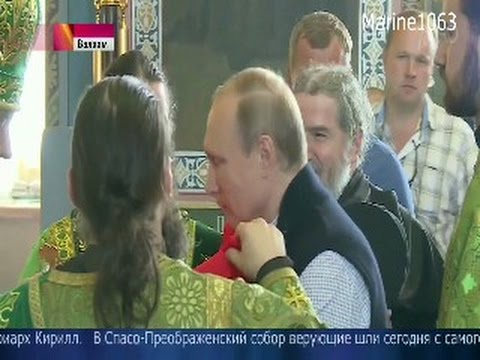 Putin Receives Holy Communion at Valaam Monastery